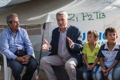 Campo profughi di Lagadikia, Grecia Fotografie Stock