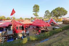 Campo provisional del mantenimiento del yeam haval famoso el competir con auto Fotos de archivo