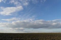 Campo recentemente arado no outono Fotos de Stock Royalty Free