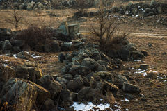 Campo rocoso Foto de archivo