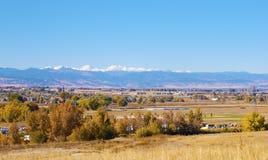 Campo rural en Colorado fotografía de archivo