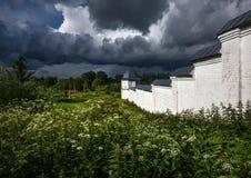 Campo ruso Las paredes del monasterio rostov Rusia fotografía de archivo libre de regalías