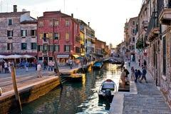 Campo San Barnaba, Venedig Arkivfoto