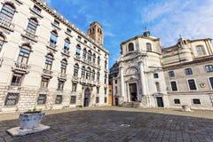 Campo San Geremia and SS. Geremia e Lucia Church in Venice Stock Photos