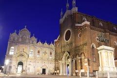 Campo San Giovanni e Paolo at night Stock Photos