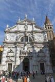 Campo San Moise e Chiesa di San Moise em Veneza, Itália foto de stock