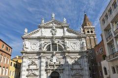Campo San Moise e Chiesa di San Moise em Veneza, Itália fotografia de stock royalty free
