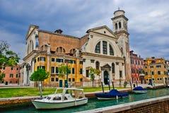 Campo San Trovaso, Veneza Fotos de Stock Royalty Free