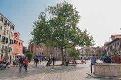 Campo Sankt Margherita in Venedig Lizenzfreies Stockbild