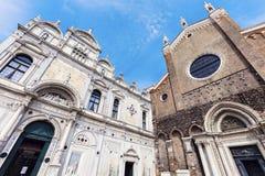Campo Santi Giovanni e Paolo in Venice Stock Photos