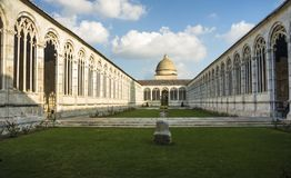 Old cemetery interior in Pisa, Italy Stock Photos
