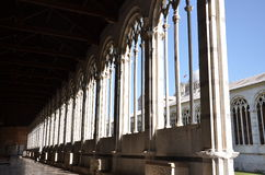 Camposanto Monumentale Arches. The Campo Santo, also known as Camposanto Monumentale (monumental cemetery) or Camposanto Vecchio (old cemetery), is a historical Royalty Free Stock Photo