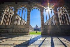 Campo Santo av Pisa arkivfoto