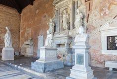 Campo Santo på den nordliga kanten av den Pisa domkyrkafyrkanten, I Fotografering för Bildbyråer