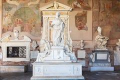Campo Santo på den nordliga kanten av den Pisa domkyrkafyrkanten, I Royaltyfri Bild