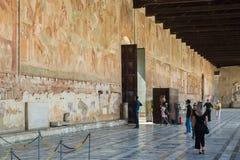 Campo Santo przy północną krawędzią Pisa katedry kwadrat, I Fotografia Stock