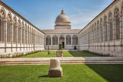 Campo Santo przy północną krawędzią Pisa katedry kwadrat, I Zdjęcie Stock