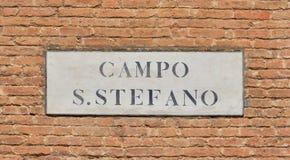 Campo Santo Stefano старый подписывает внутри Венецию Стоковое фото RF