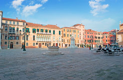 Campo Santo Stefano. Under fluffy clouds Royalty Free Stock Images