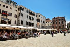 Campo Santo Stefano in Venice Royalty Free Stock Images