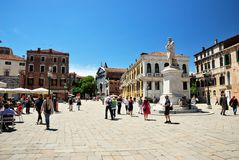 Campo Santo Stefano in Venice Royalty Free Stock Photos
