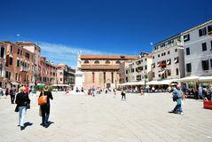 Campo Santo Stefano in Venice Royalty Free Stock Photography