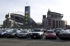 Campo Seattle de Seahawk Centurylink Fotos de Stock Royalty Free