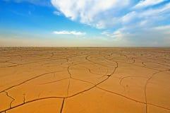 Campo seco de la grieta Foto de archivo libre de regalías