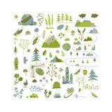 Campo selvaggio, fondo della natura per la vostra progettazione Fotografie Stock Libere da Diritti