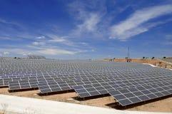 Campo solar Foto de Stock
