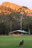 Campo sportivo della montagna Fotografia Stock