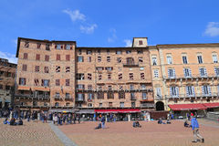 Campo Square with Public Building, Siena, Italy Stock Photography