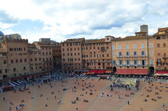 Campo square in  Siena Stock Photography