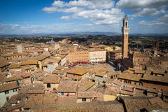 Campo Square in Siena, Italy Stock Photography