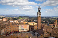 Campo Square in Siena, Italy Royalty Free Stock Image