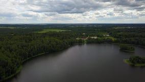 Campo sulla riva del lago Ostrovito archivi video