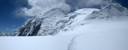 Campo superior del glaciar de Dzerzhinsky Fotos de archivo libres de regalías