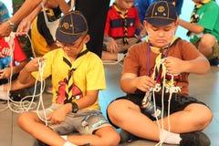 Campo tailandés del explorador del estudiante Foto de archivo libre de regalías