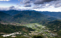 Campo terraced bonito do arroz em MU Cang Chai, Vietname Fotos de Stock