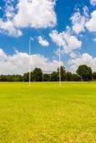 Campo vazio do rugby da High School fotos de stock