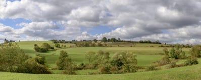 Campo verde da queda, Alemanha Fotos de Stock Royalty Free