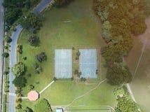 Campo verde del deporte Foto de archivo