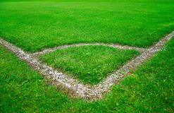 Campo verde del fútbol fotografía de archivo
