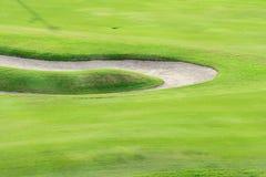Campo verde di golf Immagini Stock