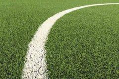 Campo verde e curva branca Imagens de Stock
