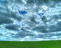 Campo verde enorme Imagen de archivo