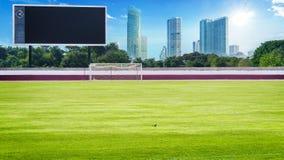 Campo verde no placar da placa da American National Standard do estádio Foto de Stock