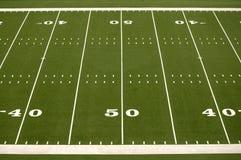 Campo vuoto di football americano Fotografie Stock Libere da Diritti