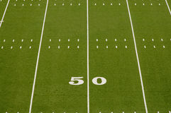 Campo vuoto di football americano Immagini Stock