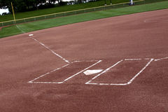 Campo vuoto di softball Fotografia Stock Libera da Diritti